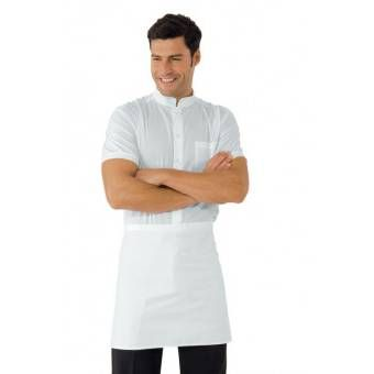 Tablier de Cuisine Blanc sans Poche 100% Coton