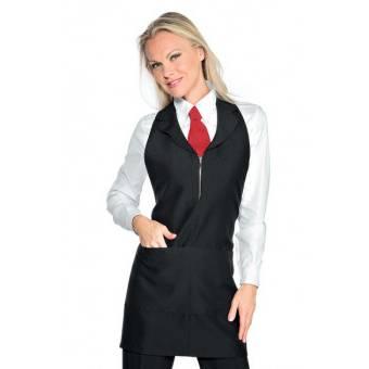 Tablier de service pour femme Madeira Avec Zip Noir -