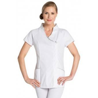 Tunique esthéticienne stretch, Oriental Look - M - Blanc