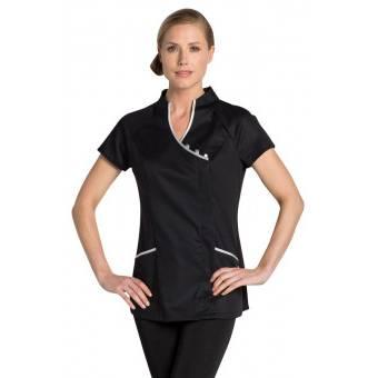 Tunique esthéticienne stretch, Oriental Look - XL - Noir