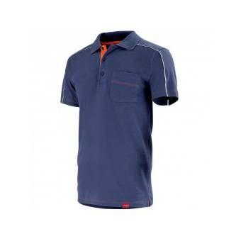 Polo bleu marine de travail shed - T2 44-46 - M
