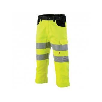 Pantacourt haute visibilité jaune fluo et noir galilee - T2 44-46 - M