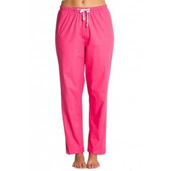 Pantalon médical rose fuchsia, coupe unisexe stretch - S