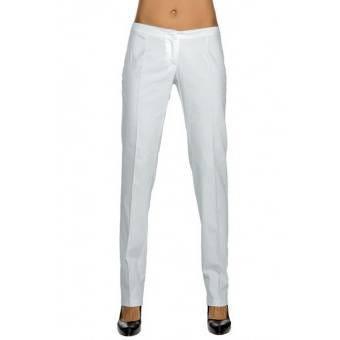Pantalon Slim Femme Blanc 100% Coton - 44 L - 44 L