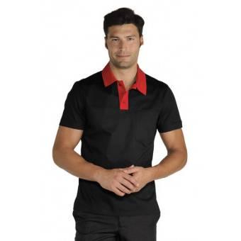 Polo Miami Unisexe Stretch Noir Rouge - M