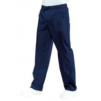 Pantalon médical Mixte Taille Élastique Bleu marine 100% Coton Bleu - XL