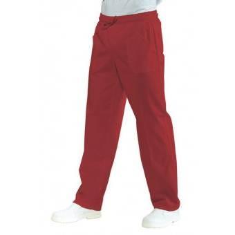 Pantalon Médical Mixte Taille Elastique Rouge - L
