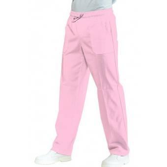 Pantalon Médical Mixte Taille Elastique  Rose - XXL