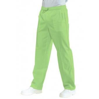 Pantalon Médical Mixte Taille Elastique Vert Pomme - S