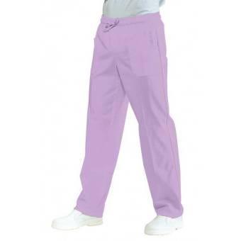 Pantalon Médical Mixte Taille Elastique Lilas - L