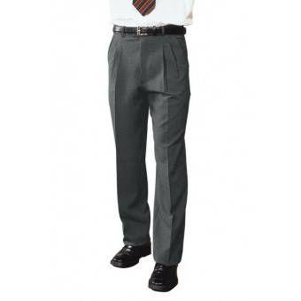 Pantalon a Pinces Homme Gris - 46