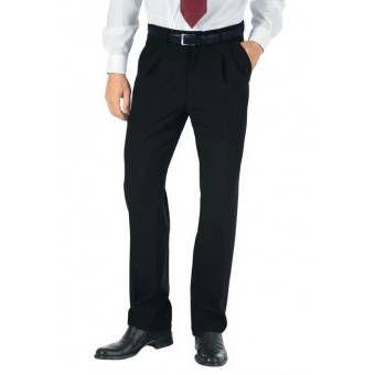 Pantalon a Pinces Homme Noir - 46