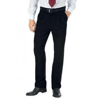 Pantalon a Pinces Homme Hiver Noir - 48