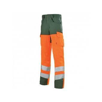 Pantalon sécurité haute visibilité orange hivi et vert - T4 52-54 - XL