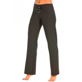 Pantalon noir taille basse elastique - S