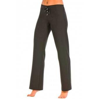 Pantalon noir taille basse elastique - XS