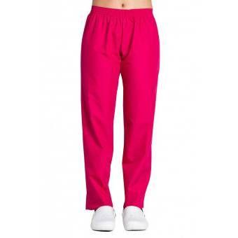 Pantalon médical rose fuchsia coupe unisexe - XS