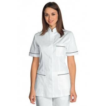 Tunique infirmiere Manches courtes Panarea Blanc Noir - L