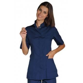 Tunique Médicale Col Mao Portofino Bleu - L