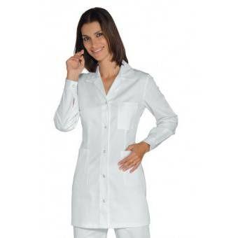 Tunique Femme Manches longues Marbella Blanc 100% Coton - XXL