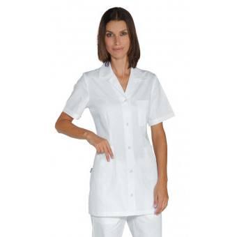 Tunique infirmiere Manches Courtes Marbella Blanche 100% Coton - M