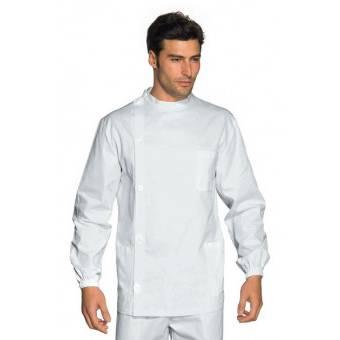 Tunique Médicale Dentiste Boutons Blanc 100% Coton - XXL
