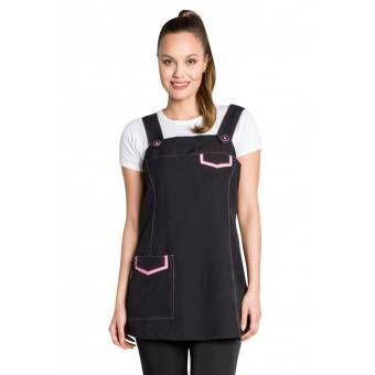 Tablier Jumper dress noir et rose - XXXL