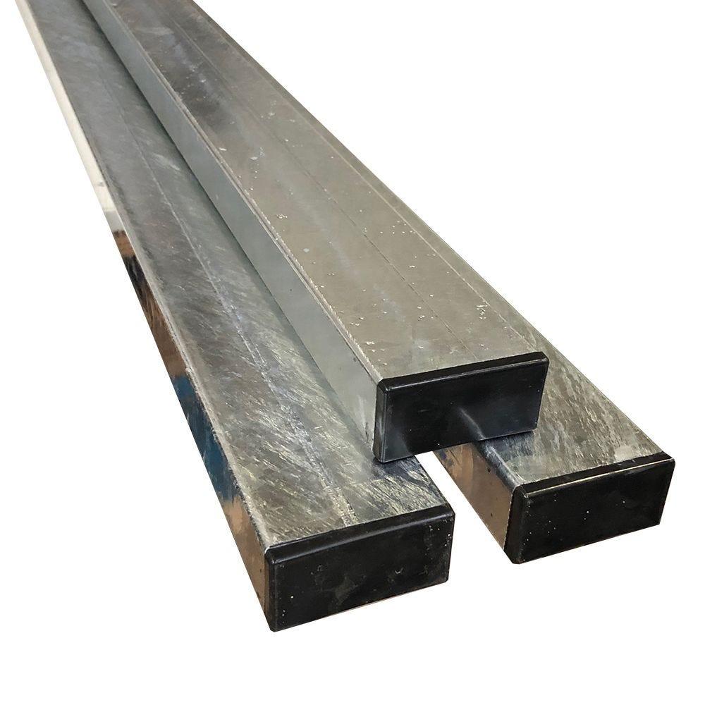 Poteau Rectangulaire - H : 2,00 m - acier - 80 x 40 mm