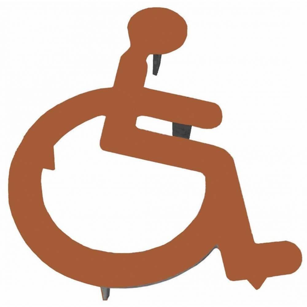 Logo PMR Sans Cadre en Fonte à Sceller