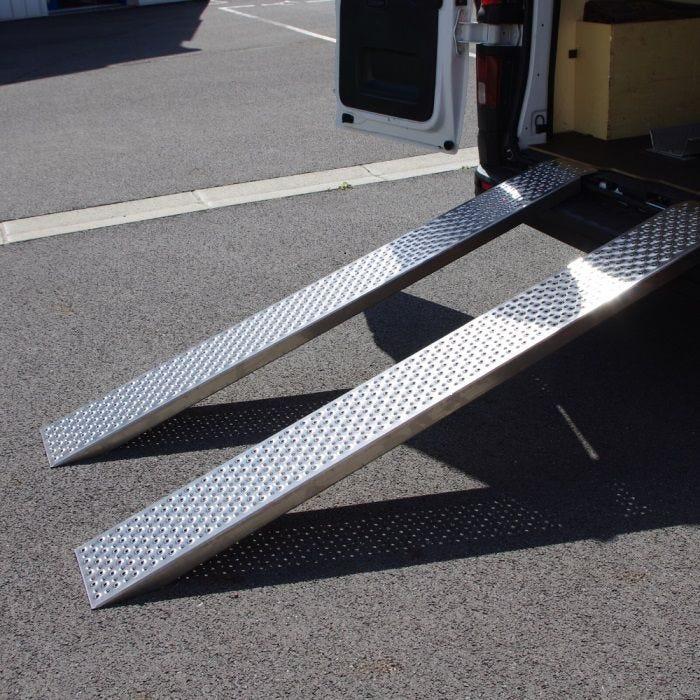Paire de rampes de chargement en aluminium - 200 cm