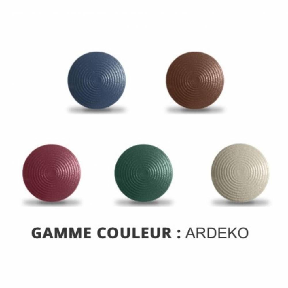 Clous Podotactiles en Acier Zingué Coloré ARDEKO - Bleu - Tige courte - 1 Unité