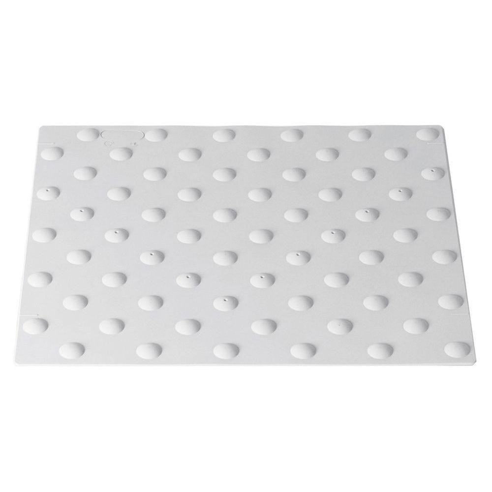 Dalle podotactile extérieure en ABS- Ext -à visser - Blanc - 400 x 820 mm