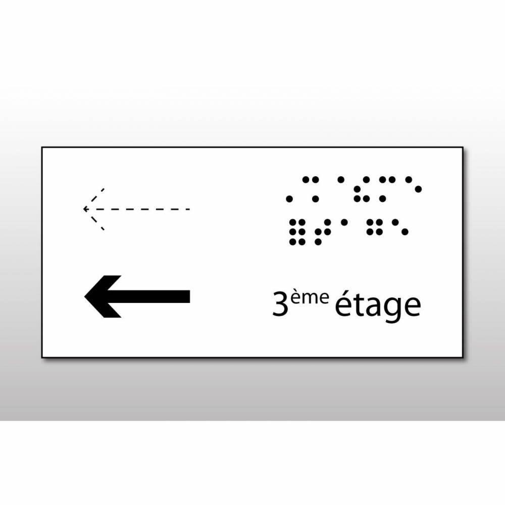 Manchon en Braille Direction : 3ème étage - Main courante de droite