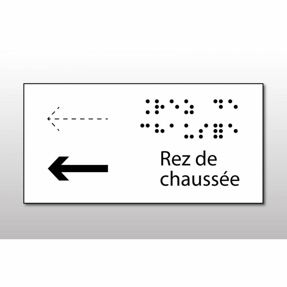 Manchon en Braille Direction : Rez de chaussée - Main courante de droite