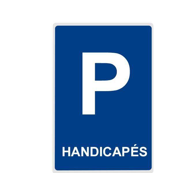 Panneau parking handicapé - plat 300x500 mm