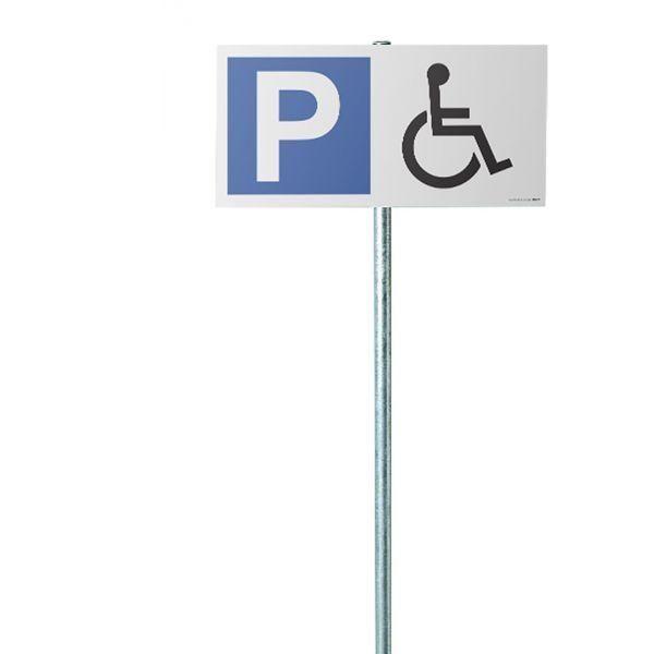 Kit panneau de parking p + pictogramme handicapé (photo)