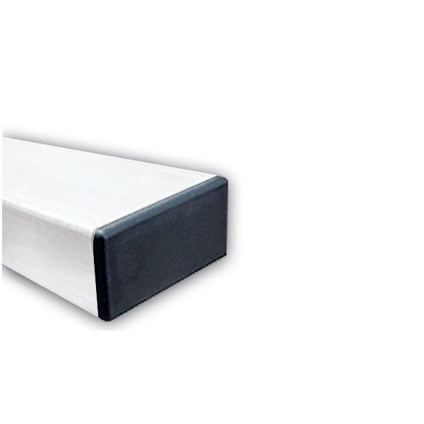 Poteau rectangulaire en acier galvanisé 80x40 mm blanc - hauteur:3,00 m