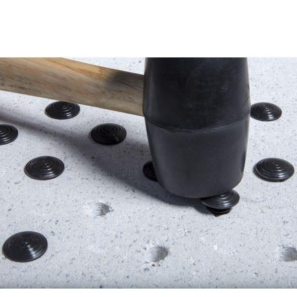 Clous podotactiles à frapper en polymère noir polymère gris - par lot de 250