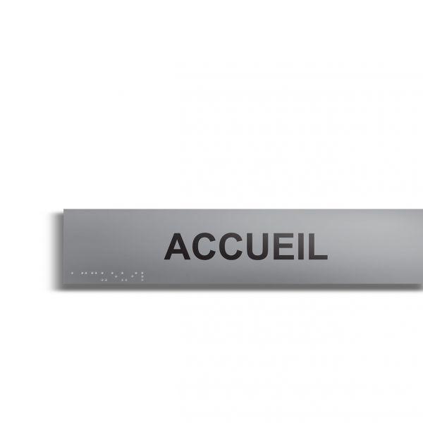 Accueil plaque de porte en braille et relief plaque alu (photo)