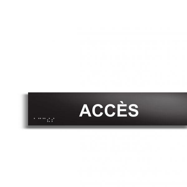 Accès plaque de porte en braille et relief plaque noire (photo)