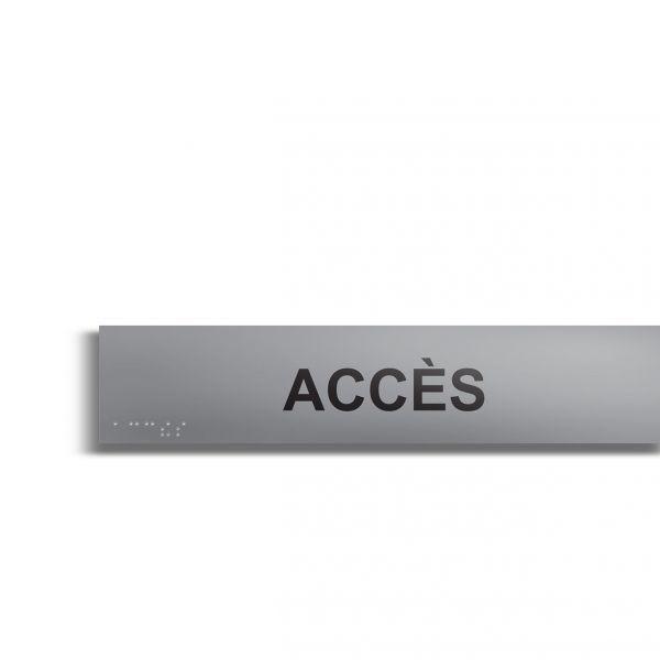 Accès plaque de porte en braille et relief plaque alu (photo)