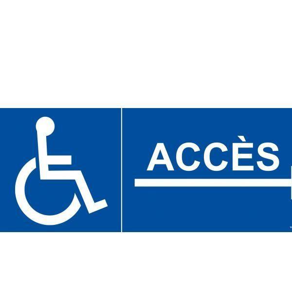 Panneau accès aux personnes handicapées et à mobilité réduite pvc - 210x75mm (photo)