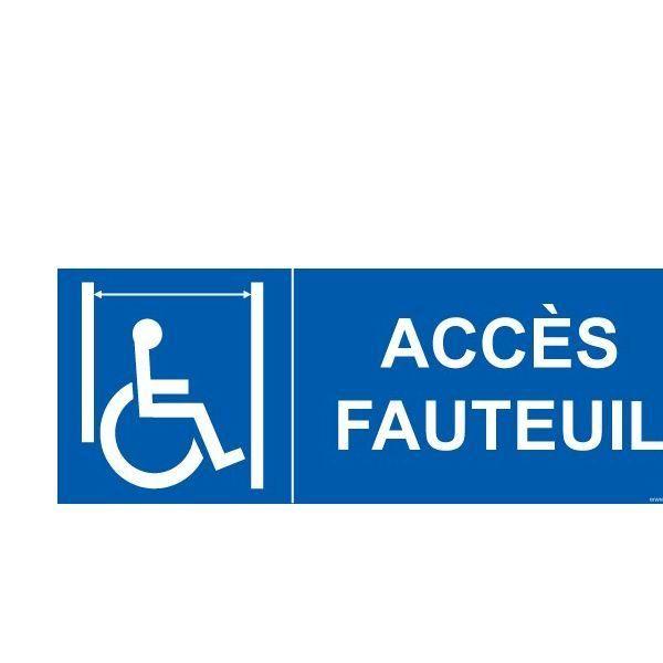 Panneau ascenseur personnes handicapées et pmr accès fauteuil pvc - 210x75mm (photo)