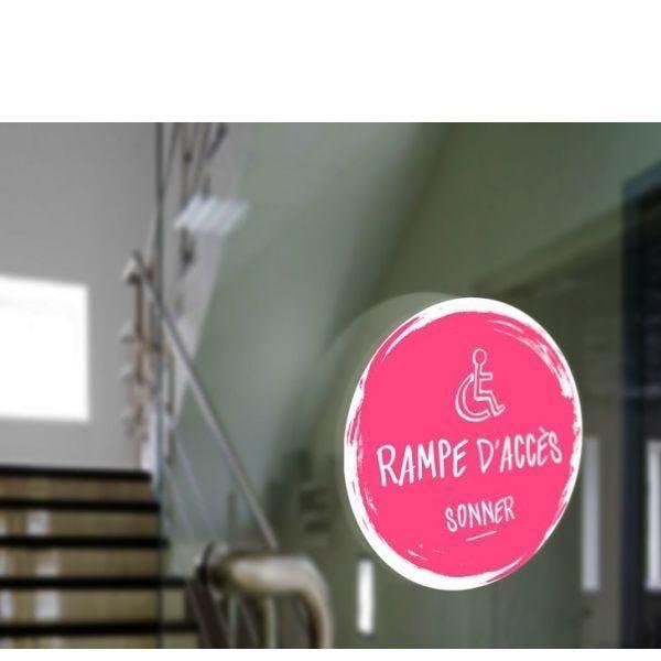Adhésif design pour carillon d'appel rampe d'accès - rose (photo)