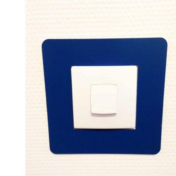 Adhésif carré de repérage des interrupteurs bleu (photo)