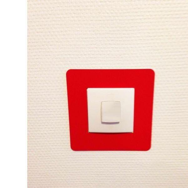 Adhésif carré de repérage des interrupteurs rouge (photo)