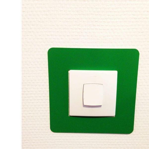 Adhésif carré de repérage des interrupteurs vert (photo)