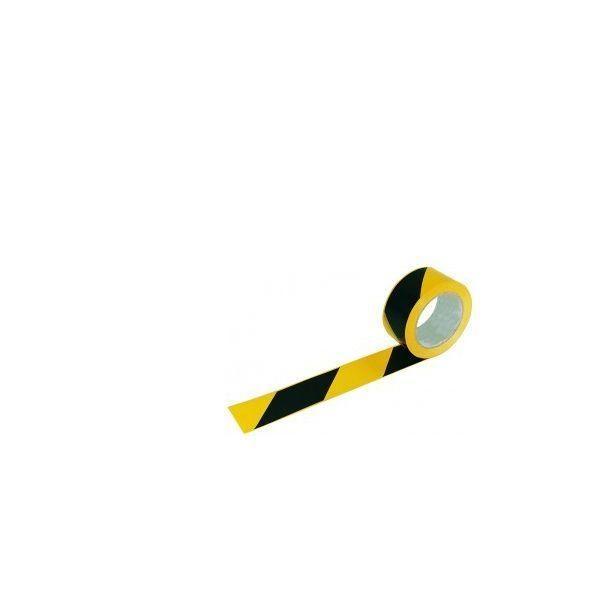 Adhésif de marquage au sol noir et jaune (photo)