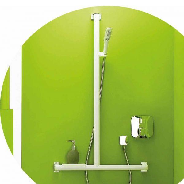Barre douche en t ou l design (photo)