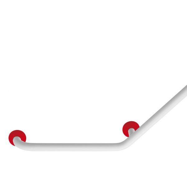 Barre d'appui coudée 135° color rouge (photo)